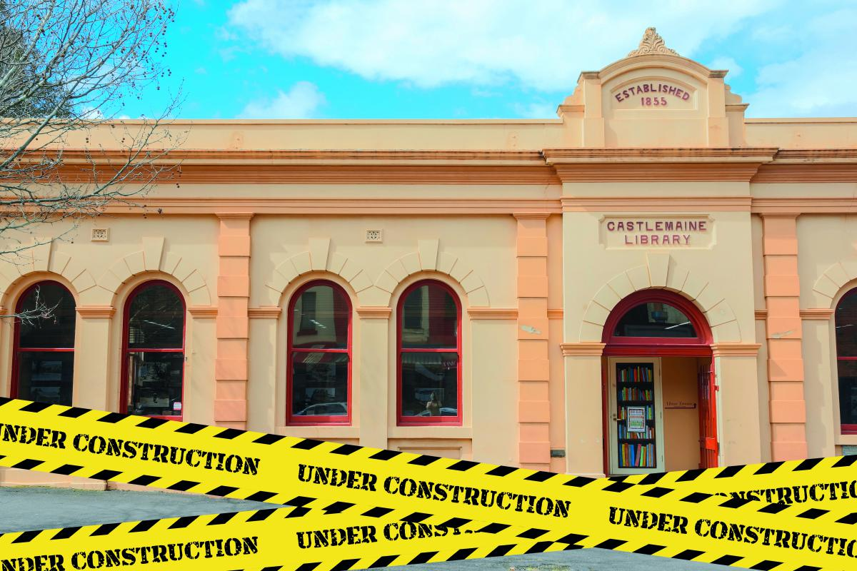Castlemaine Library under construction