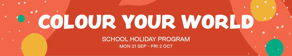 Colour Your World school holiday program